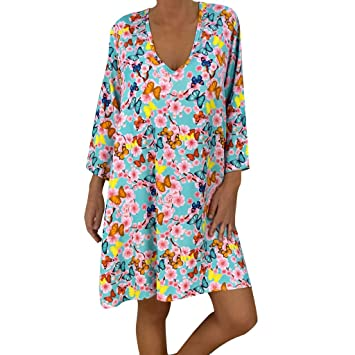 Amazon.com: Staron Vestido largo de mujer hasta la rodilla ...