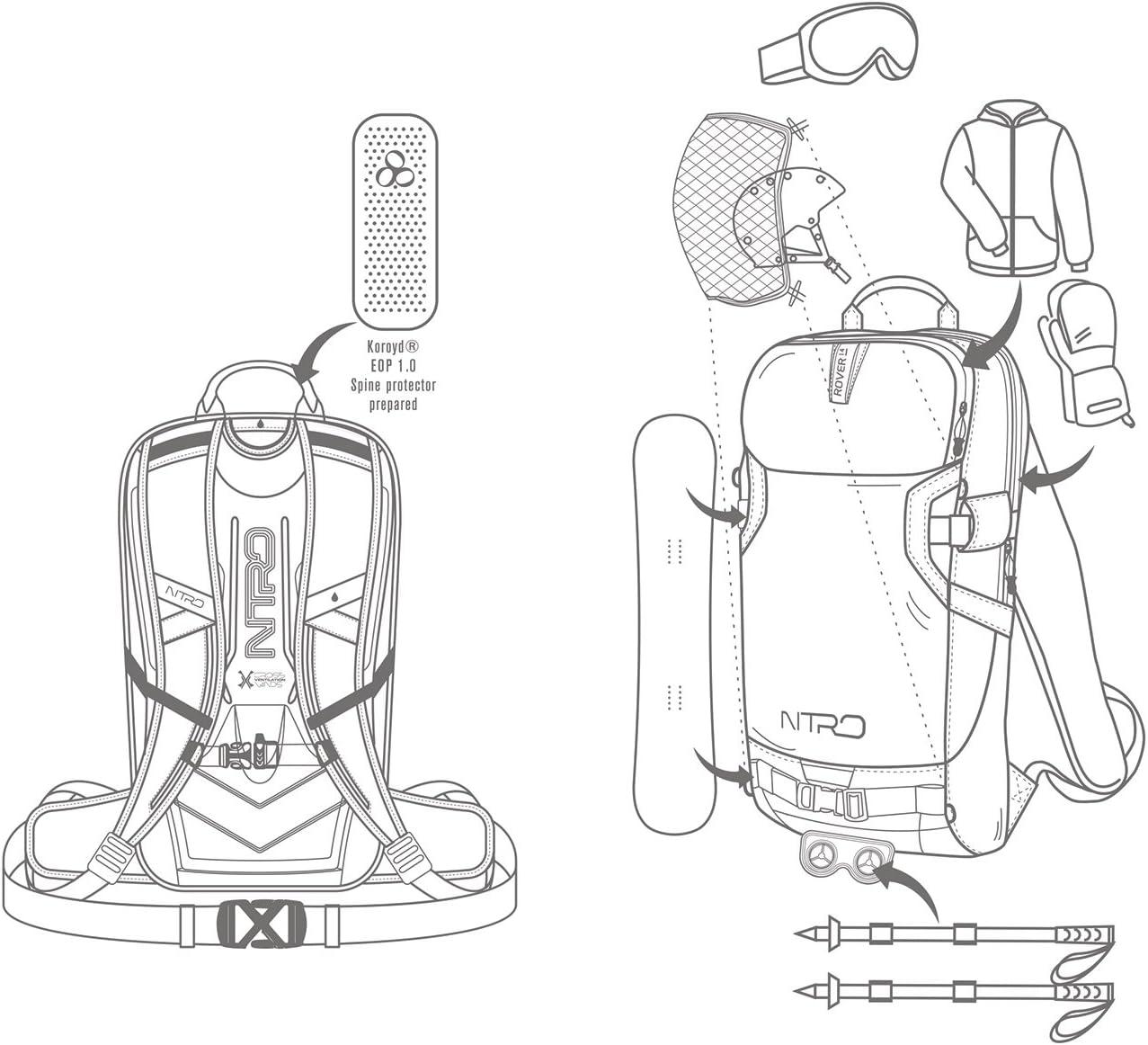 Nitro Snowboards Rover 14/Snowboard Sac /à Dos Rover 14 Mixte