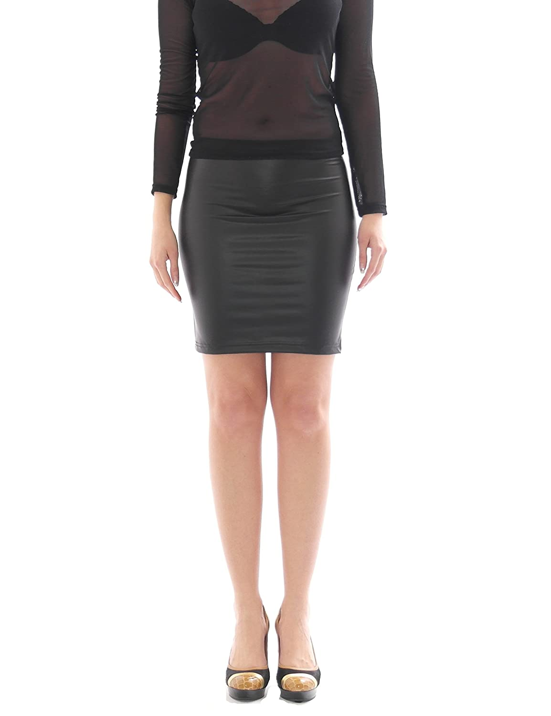 Sharon Sloane Latex Mini Skirt Black Small Medium or Large