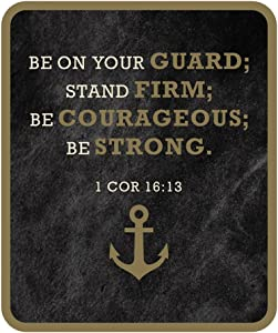 Be Strong 1 Corinthians Bible Verse Refrigerator Magnet Father's Day Gift, 3 Inches
