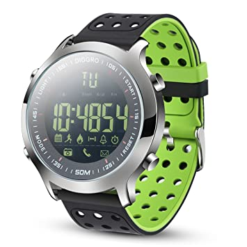 Diggro DI04 Montre Connectée IP68 Étanche Bluetooth 4.0 5ATM Smart Watch Temps de veille de 8 ...