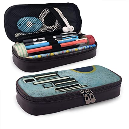 Unequal by Kandinsky Estuche Case Zipper Bag Stationery Pouch Holder Box Organizer for Middle High School Office College: Amazon.es: Oficina y papelería