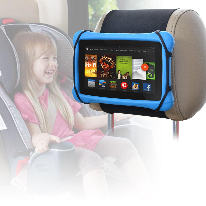 Car Headrest Holder WANPOOL Car Headrest Mount Silicon Holder for 7-10 Inch Fire Tablets by WANPOOL