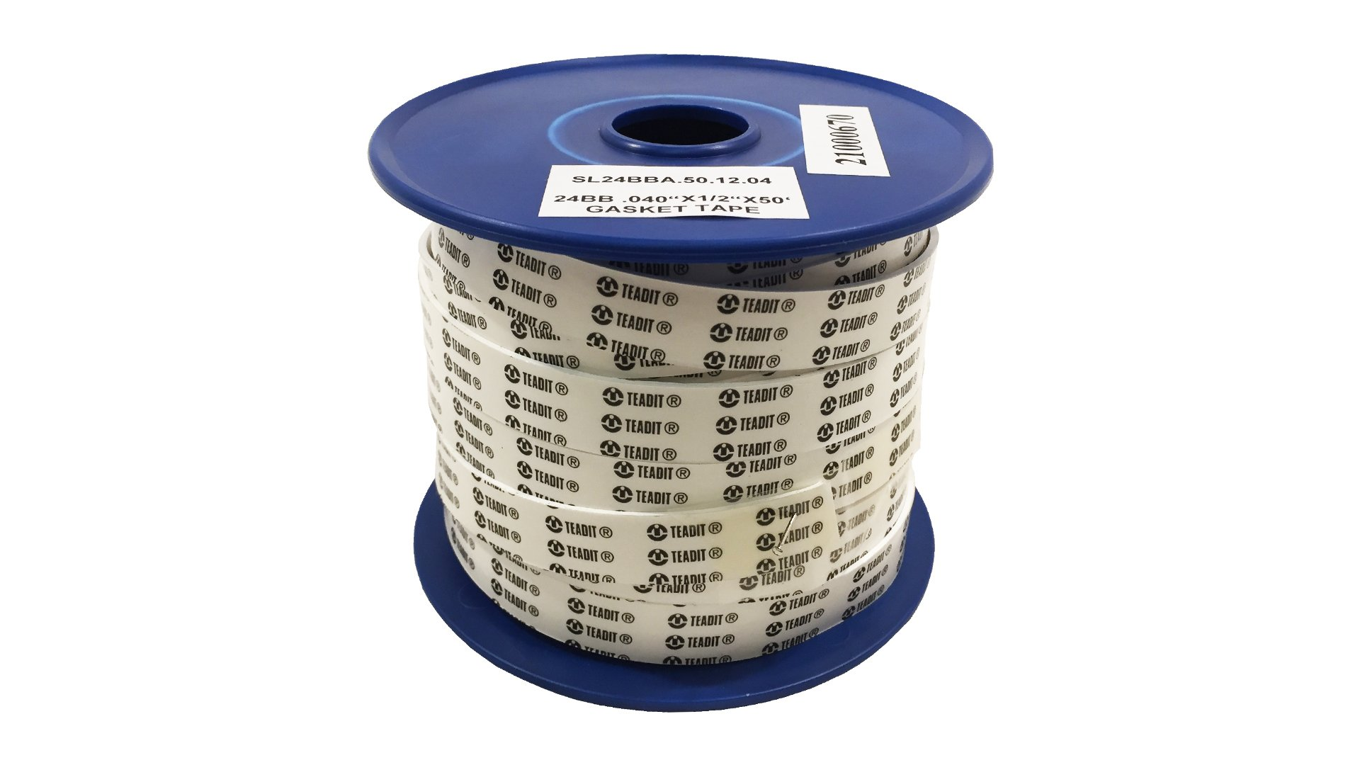 Sterling Seal and Supply (STCC)  24BB.500.040.50 White PTFE Teadit 24BBA Expanded Gasket Tape, 1/2'' Width, 0.040'' Thick, 50' Spool