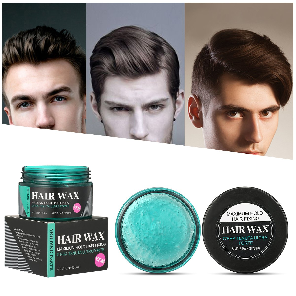 Strong Hold Hair Wax, Y.F.M Hair Styling Clay, Hair Styling Cream for Man, Unisex Matte Finish Wax for Textured, Thickened Hair Mud Cream