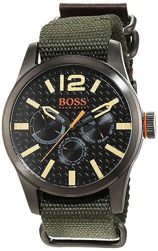 238b37f03be4 Hugo Boss Orange - Reloj análogico de cuarzo con correa de tela para hombre  - 1513312  Amazon.es  Relojes