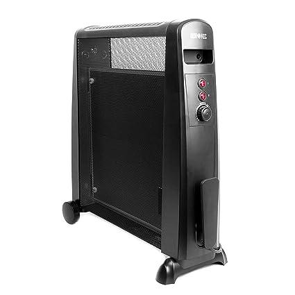 Duronic HV051 Calefactor Radiador Eléctrico con Panel de Mica de 1500 W y Termostato Paneles Calefactores