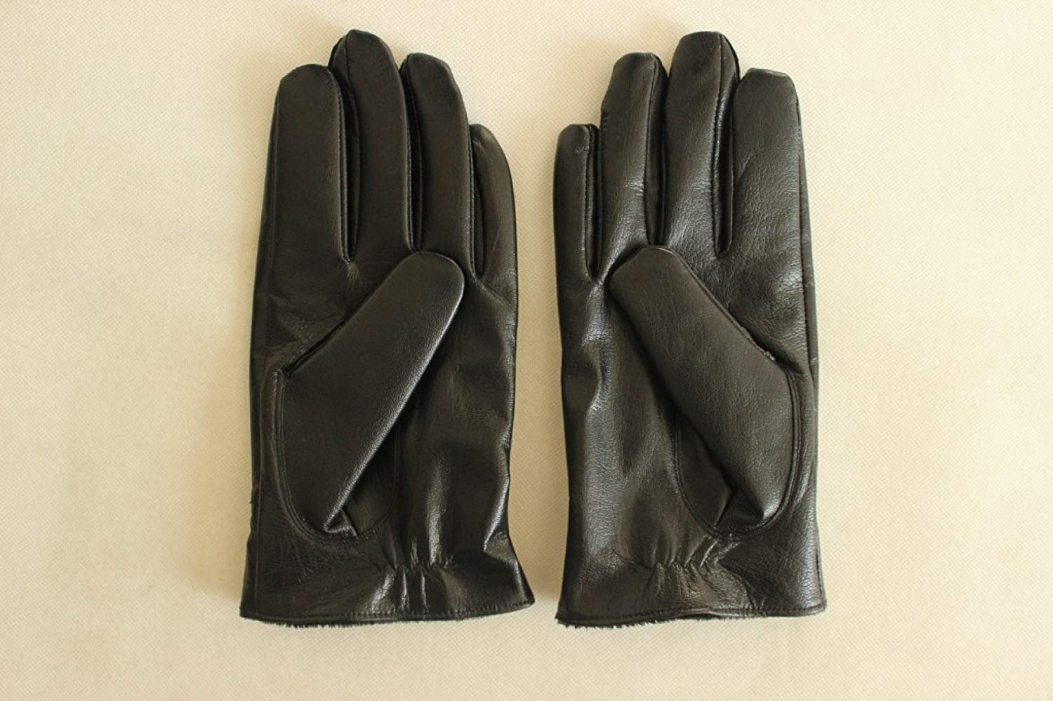 CWJ Men's Gloves Thick Drive Car Ride Warm,Black,One Size by CWJ (Image #3)