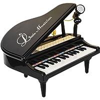 Baoli 31 Teclas Mini Jugando con Micrófono Piano para Niños Conectar Mp3 Electrónico Organ Music Keyboard Colorido Rhythm Light 3 Modos de Enseñanza