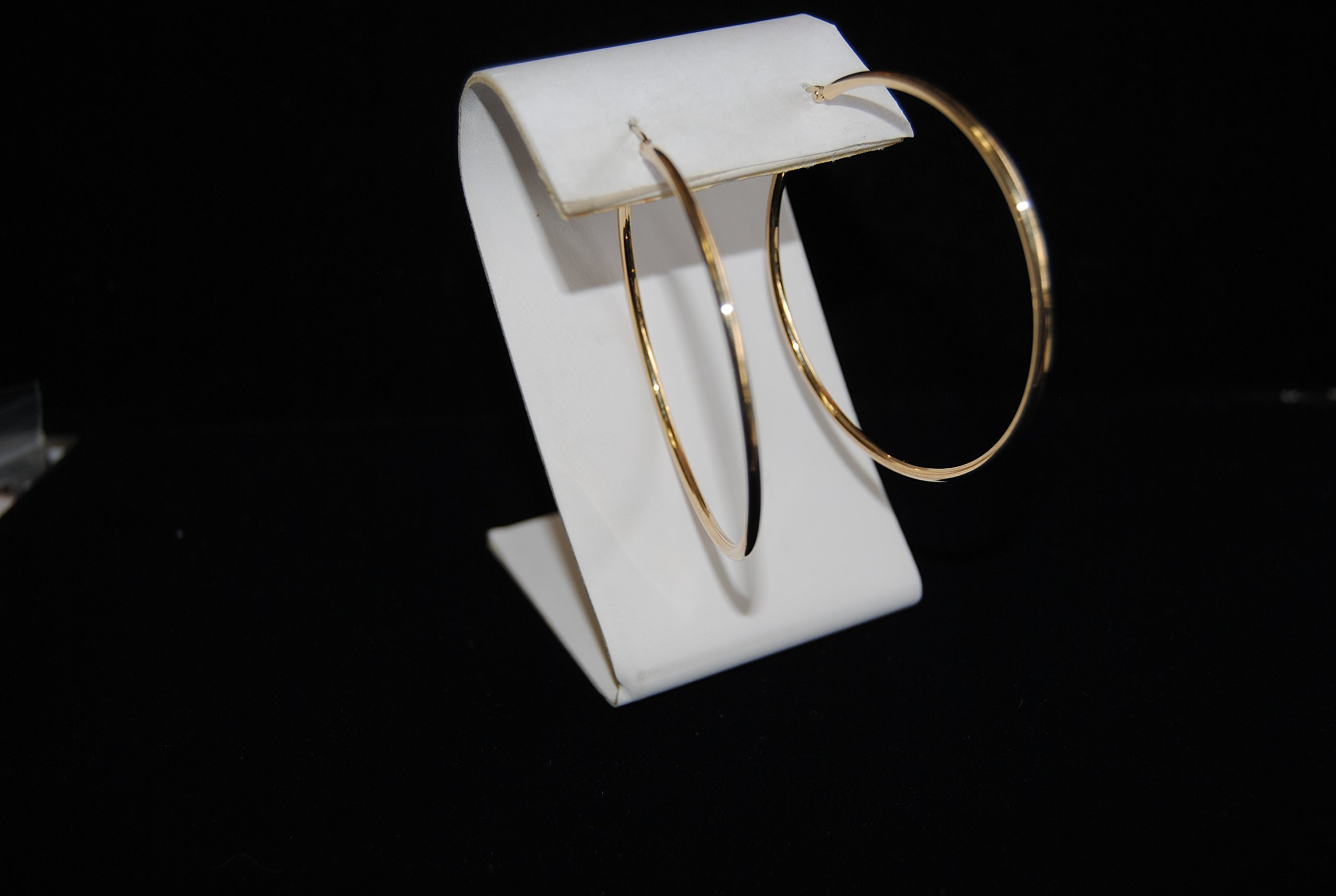 14K Yellow Gold 2 inch Hoop Earrings with Click Top Backing by Temecula Gold and Jewelry (Image #2)
