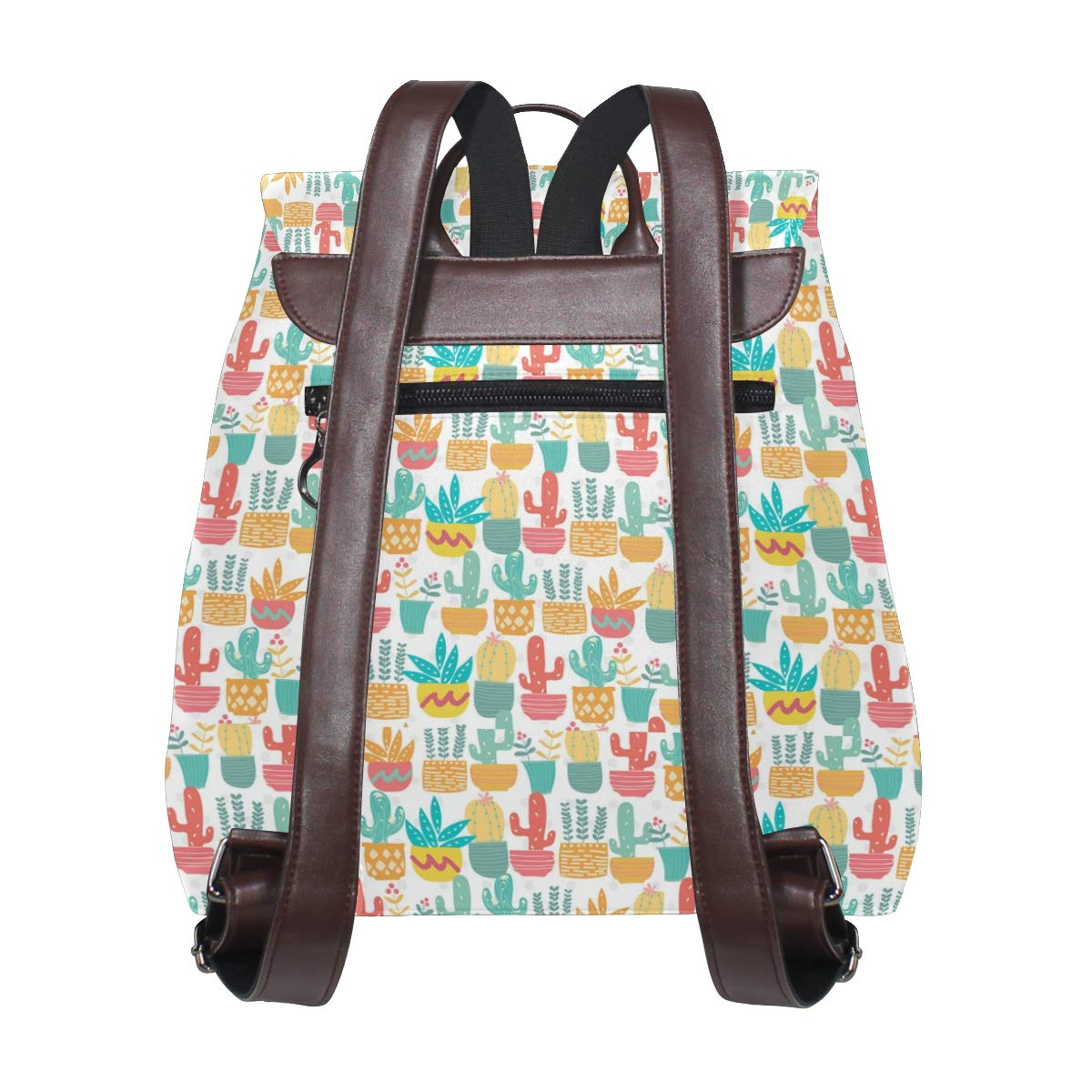 Leather Cute Pastel Cactus Backpack Daypack Bag Women