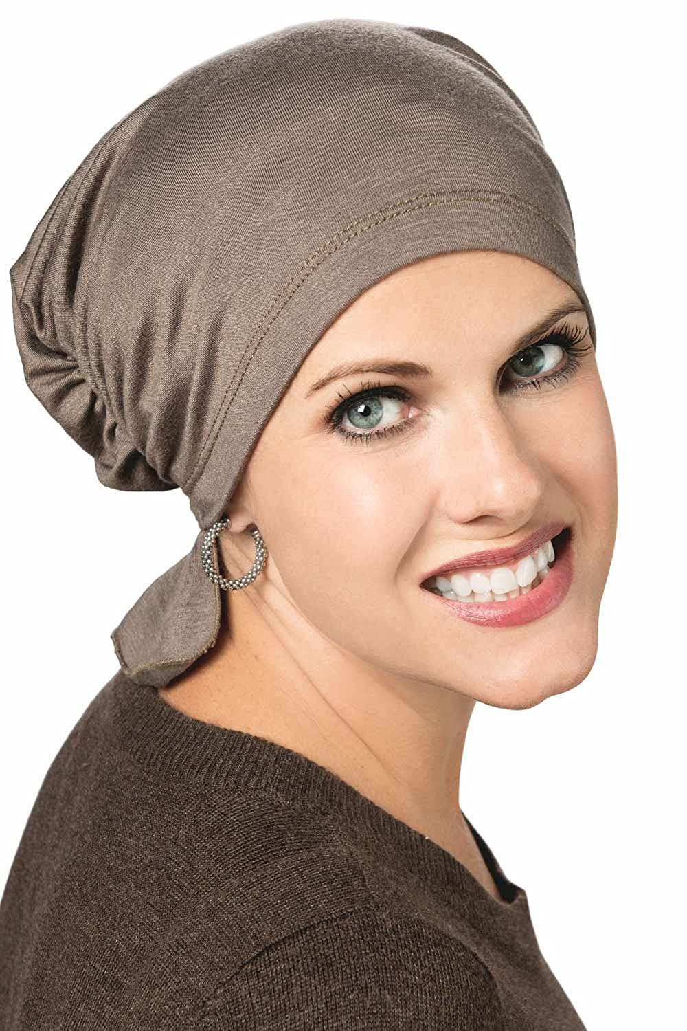 Gathered Scarf Beanie - Chemo Head Cover Cancer Hat for Chemotherapy Hair  Loss Patients Amethyst Chevron at Amazon Women s Clothing store  1e383e0c469