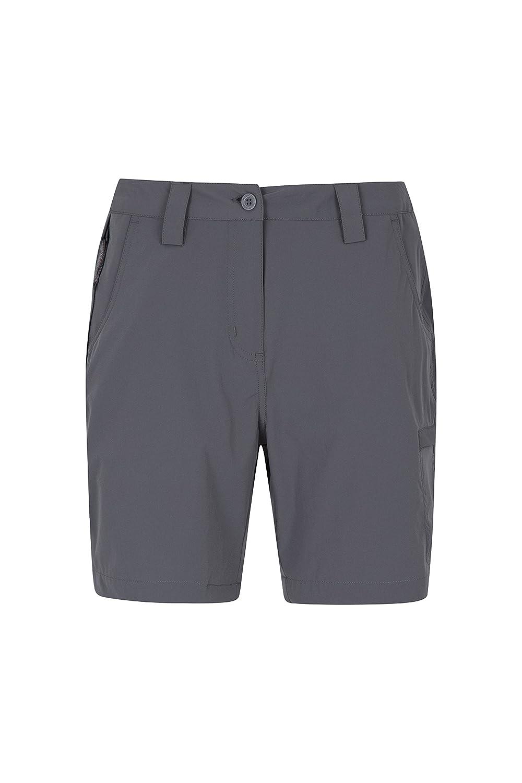 TALLA 34. Mountain Warehouse Pantalón Corto elástico Trek para Mujer - Pantalón Corto Ligero para Mujer, Pantalones elásticos Resistentes, pantalón Corto de Verano fácil de Guardar