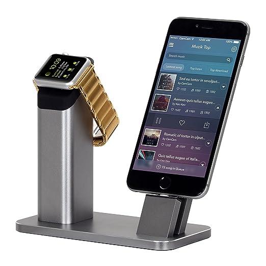4 opinioni per Supporto Apple Watch, WOWO Supporto Cellulare di Alluminio, Base Ricarica per
