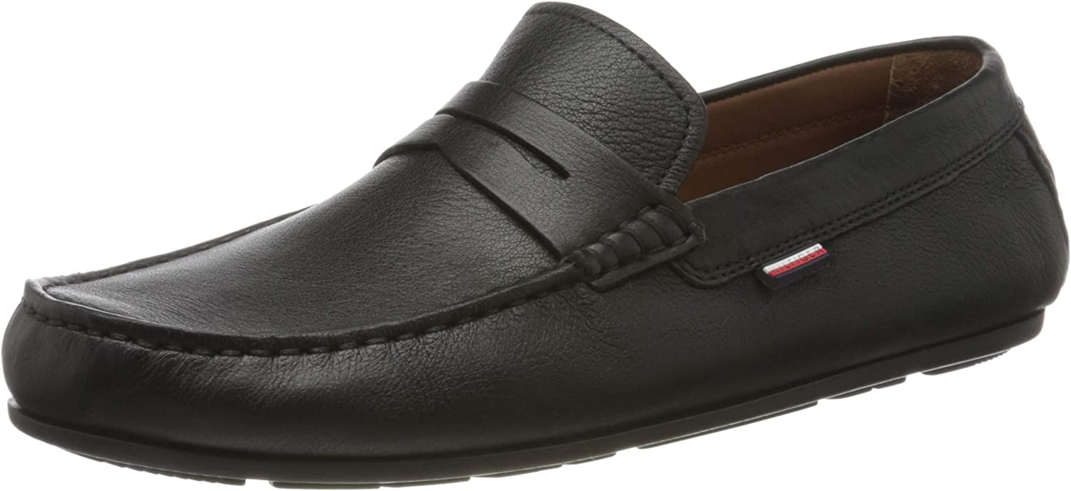 Tommy Hilfiger Classic Leather Penny Loafer, Mocasines para Hombre