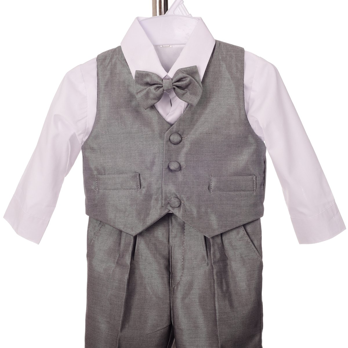 Lito Angels Baby Boys Formal Tuxedo Suits Wedding Christening Outfits No Tail 5 Piece Set 022