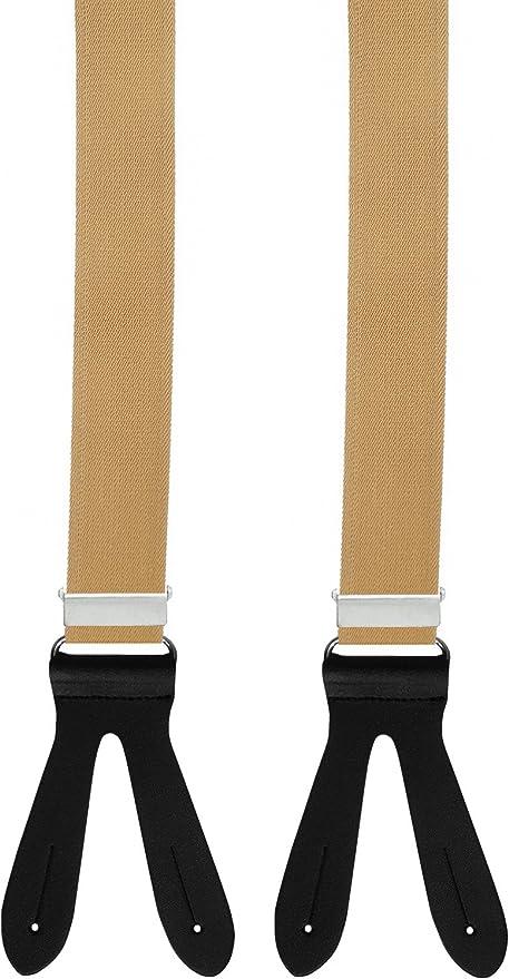 6 Stück Knopfclip Knopf Clips für Leder Hosenträger im Geschenkbox Klips Clips
