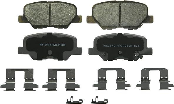Amazon Com Wagner Thermoquiet Qc1679 Ceramic Disc Brake Pad Set Automotive