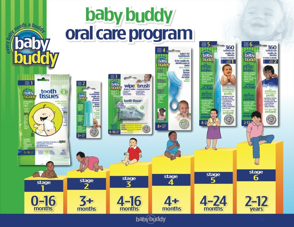 Amazon.com: Brilliant Baby Toothbrush by Baby Buddy - For Ages 4-24 Months, BPA Free Super-Fine Micro Bristles Clean All-Around Mouth, Kids Love Them: ...