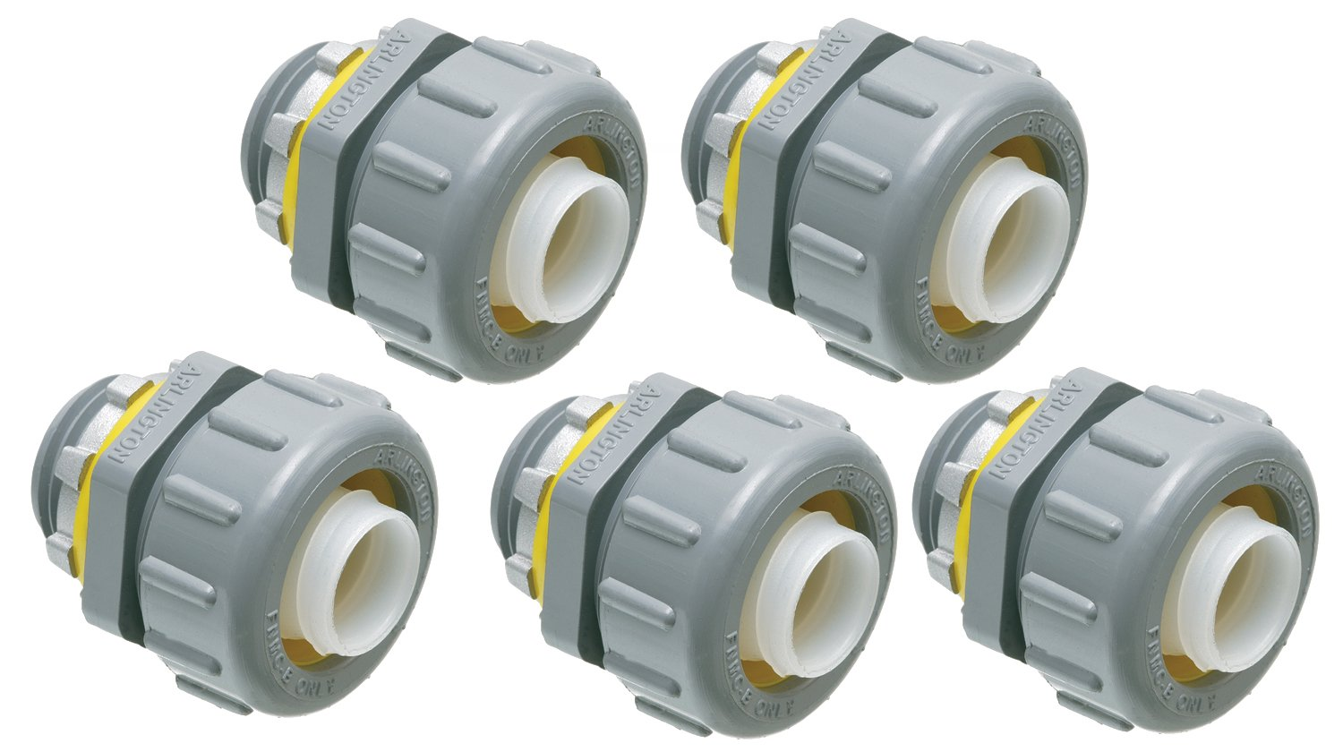 Arlington NMLT75-5 Non-Metallic 3/4-Inch Straight Liquid-Tight Connector, 5-Pack