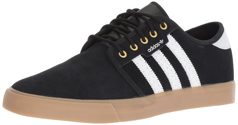 adidas Originals Men's Seeley Fashion Sneaker 8 D(M) US|Black/White/Gold Metallic