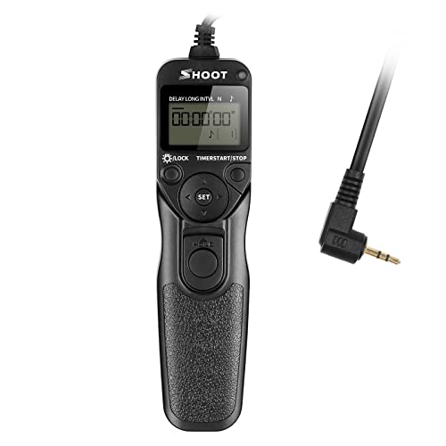 SHOOT RS-60E3 LCD Timer Shutter Release Remote Control for Canon EOS 650D/600D/550D/500D/1000D/450D/400D/350D/300D/100D/700D/60D (Rebel T4i Rebel Rebel XT Rebel XTi Rebel XSi Rebel XS Rebel T1i Rebel T2i Rebel T3i)