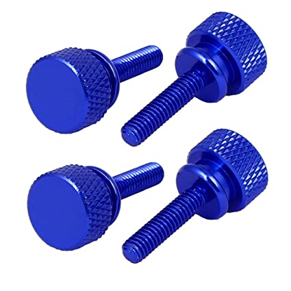 Computer PC Case Shoulder Type Knurled Thumb Screw M4x10mm 10pcs