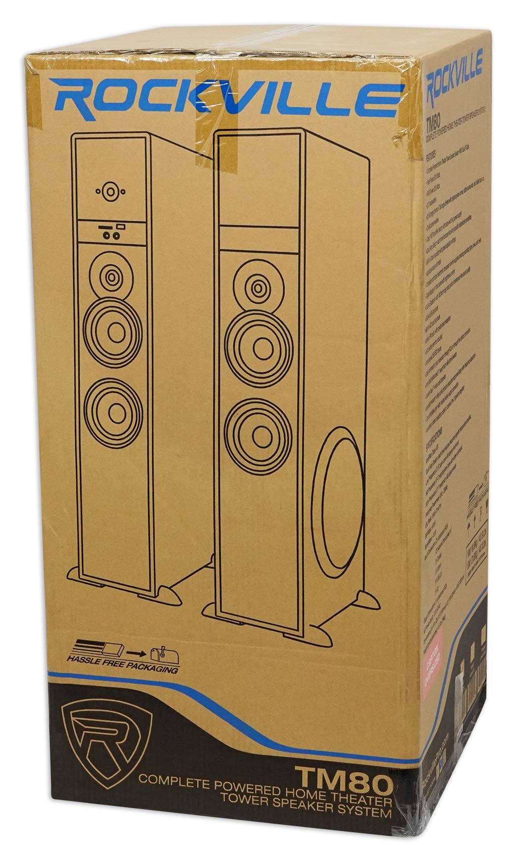 Tower Speaker Home Theater System+8'' Sub For Insignia 50'' Television TV-White by Rockville (Image #9)