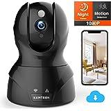 KAMTRON 1080P FHD WLAN IP Kamera Überwachungskamera Innen mit Nachtsicht,Baby und Haustier Monitor mit Bewegungserkennung, Zwei-Wege-Audio,Fernalarm und Mobile App Kontrolle für Haus und Büro
