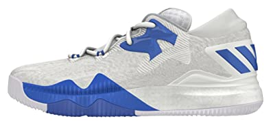 online store c17e8 4a81e adidas Mens Crazylight Boost Low 2016 Basketball Shoes, White (FtwblaBlue   Onicla