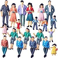 Polai 20 Piezas 1:25 Escala Personas Maqueta Personas