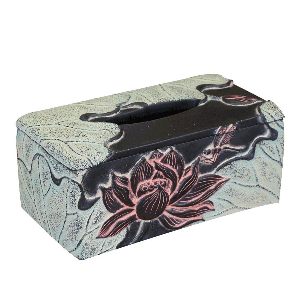 レジンパストラルアートナプキンボックスレトロストレージボックスクリエイティブベッドルームクラシックティッシュボックス   B07CDVJDB4