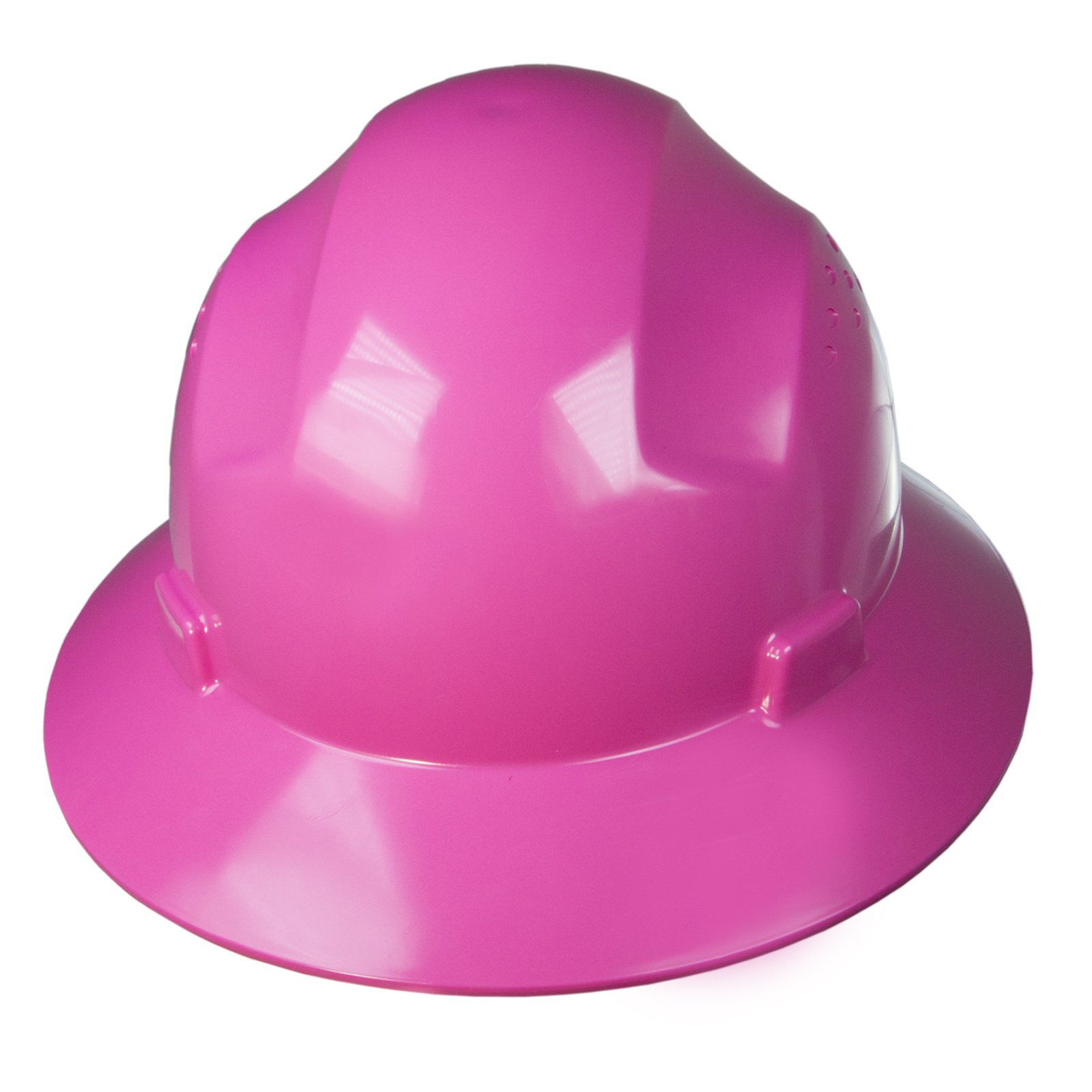 PPE By JORESTECH - HDPE Full Brim Style Hard Hat Helmet w/Adjustable Ratchet Suspension For Work, Home, and General Headwear Protection ANSI Z89.1-14 Compliant (Pink)