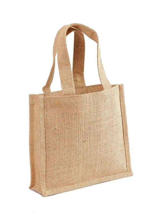 Amazon.com: Pack de 3 – Bolsa de yute bolsa de regalo con ...
