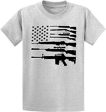 USA Rifle Flag American ak-47 T Shirt Funny Vintage Gift For Men Women