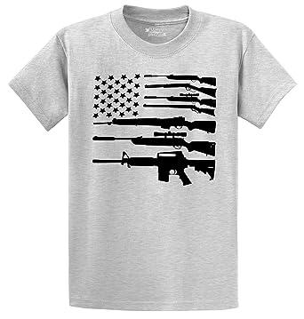 Amazon Com Comical Shirt Men S Gun American Flag Shirt Patriotic