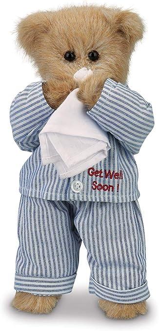 """Bearington Illie Willie Get Well Soon Teddy Bear 10/"""" Free Shipping"""