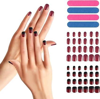 Juego de 48 uñas postizas, Segbeauty Full Cover Manicure Nail Fake ...