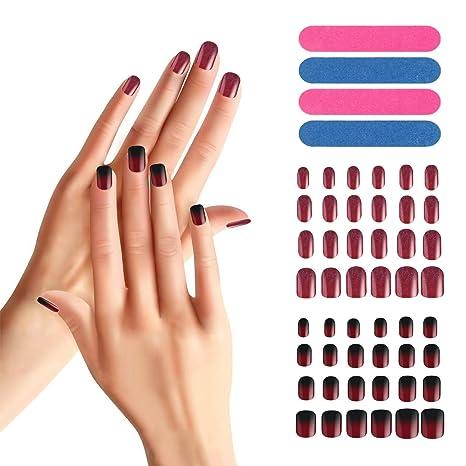 Juego de 48 uñas postizas, Segbeauty Full Cover Manicure ...