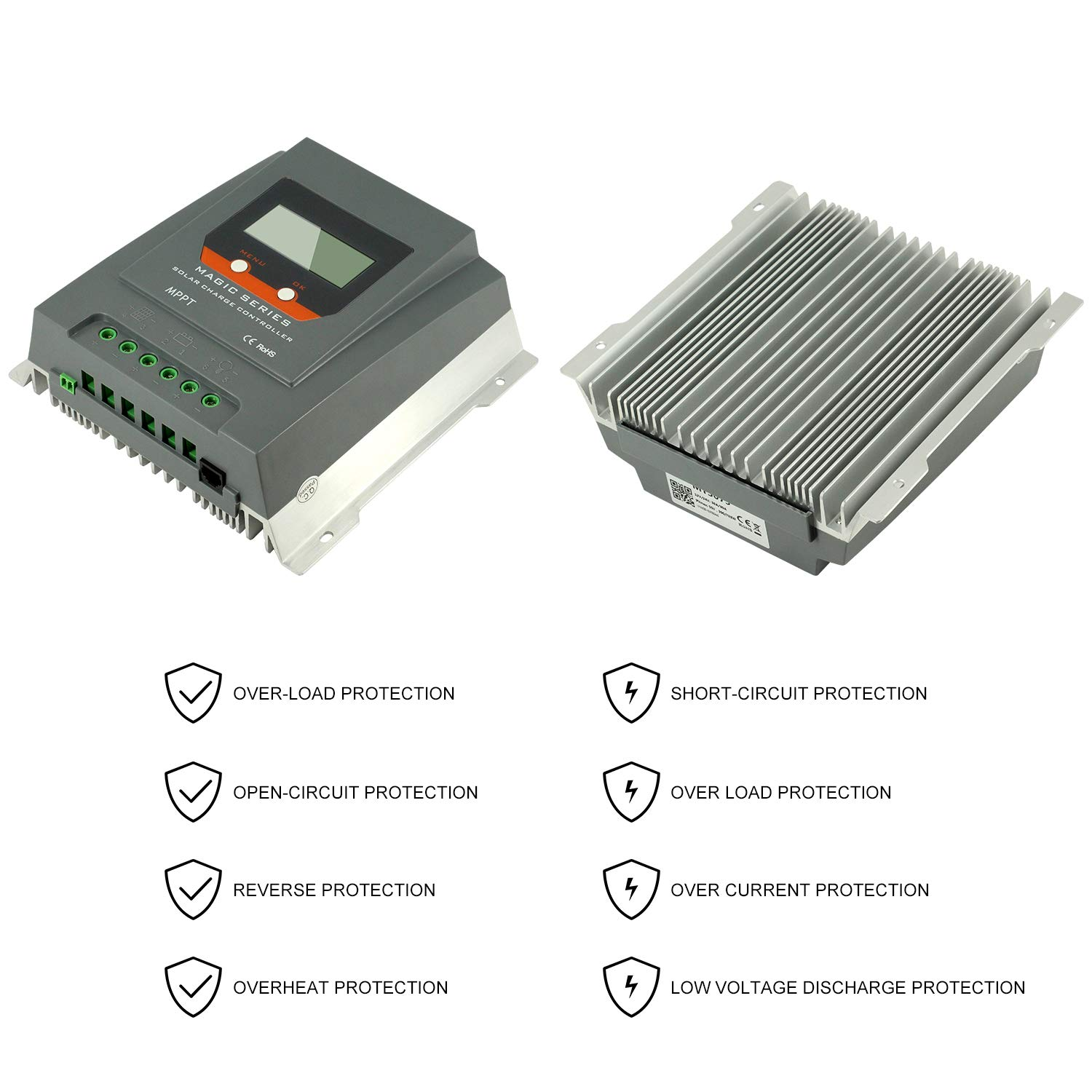Powmr Mppt Charge Controller 30amp Negative Ground Battery Charger Circuit Besides Solar Panel 24v 780w 12v 390w Weatherproof For Agm Flooded
