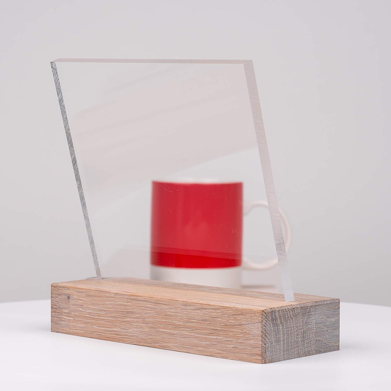 DOLLE Acrylglas XT Kanten unbearbeitet Glasklare Platte in 250 x 250 mm Zuschnitte |St/ärke 4 mm F/ür Innen und Au/ßen PMMA | UV-Stabil