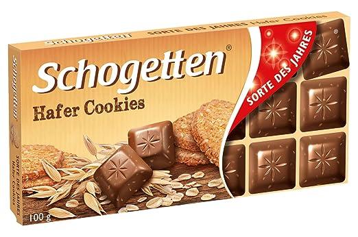Schogetten Galletas de avena Chocolate Bar Candy Original ...