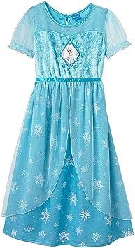 Disney Frozen Disfraz Infantil con Forma de Elsa camisón ...