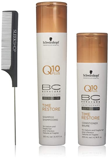 228aaa2002 Schwarzkopf BC Bonacure Q10 Plus TIME RESTORE Shampoo & Conditioner for  MATURE AND FRAGILE HAIR Duo
