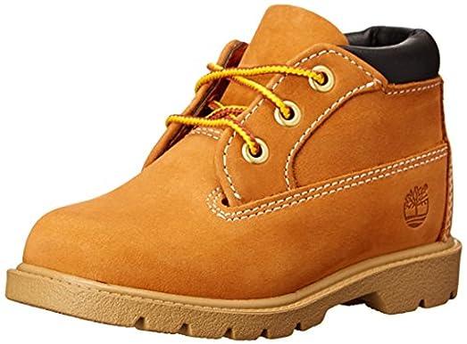 Timberland Toddler 3 Eye Chukka Boots Butter Pecan 7 M & Knit Cap Bundle