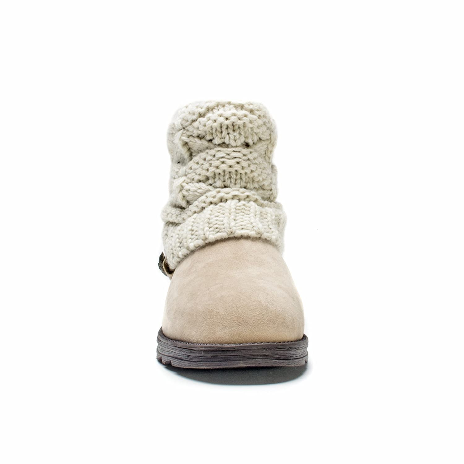 MUK LUKS Women's Patti Crochette Winter Boot B00VM0SQGC 10 W US|Beige