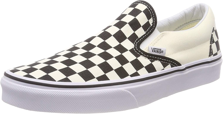 Vans Men's Embossed Suede Slip-On Skate Shoe, Black/Off White/Checkerboard, 5