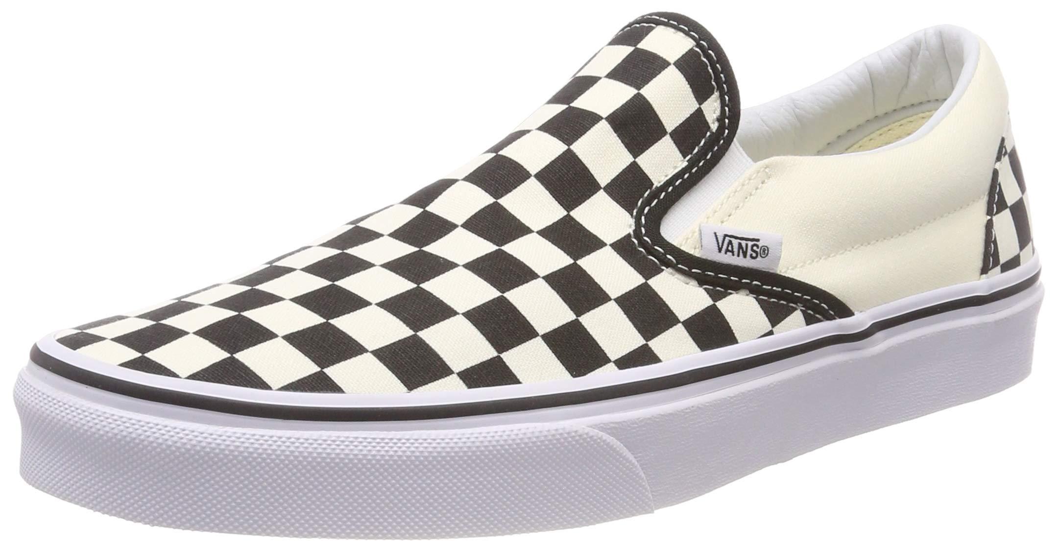 Vans Unisex Adults' Classic Slip On, Black/Off White Check, 8.5 UK by Vans