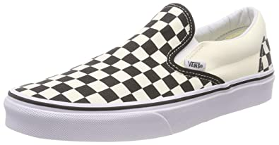 36716d385b Vans Unisex Classic Slip-On (Checkerboard) Skate Shoe (35 M EU