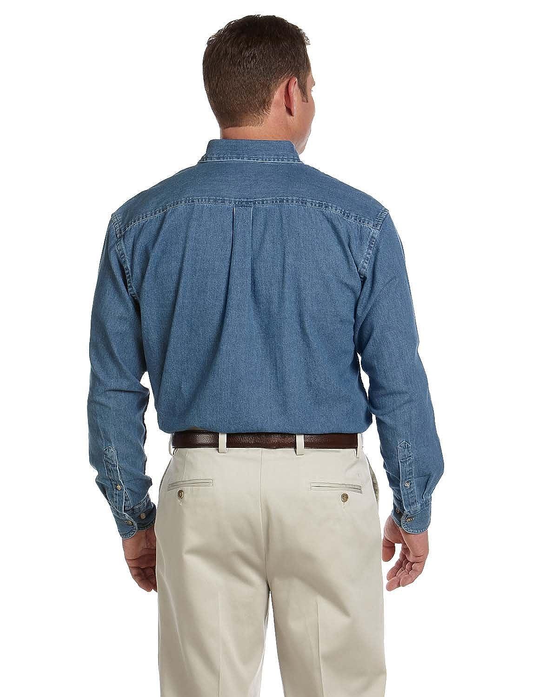 cfcb3e3976f Harriton Men s Long-Sleeve Denim Shirt M550 at Amazon Men s Clothing store   Button Down Shirts